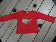 T-shirt manches longues fuchsia imprimé poisson patch work Taille 4 ans