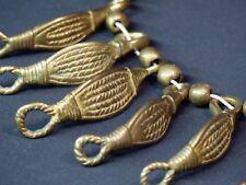 Art afrique 1940 superbe collier bronze patiné 120g bijou ancien 8 palmettes