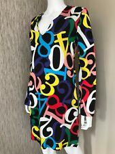 Amour Moschino Robe Brillant Numéro Imprimé Taille UK 10 Détail