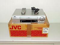 JVC HR-J587 VHS-Videorecorder Silber, in OVP mit Fernbedienung, 2J. Garantie