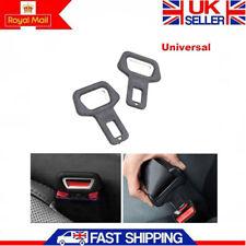 2PCS Car Universal Metal Safety Seat Belt Buckle Alarm Clip Stop Warning Opener