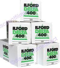 5 x ILFORD DELTA 400 120 Roll Black & White FILM for 120 Cameras 1st CLASS POST