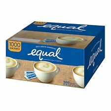 (1000 PACKETS) EQUAL SUGAR SUBSTITUTE PACKETS BOX ZERO CALORIES