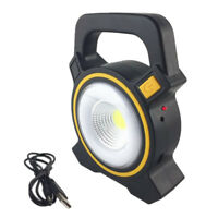 COB LED Portable Work Rechargeable Solar Camping Tent Light with USB Port