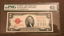 1928-F $2 unified states note , Gem uncirculated PMG 65 EPQ