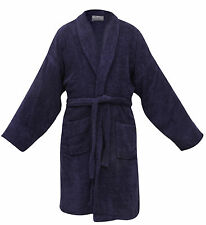 BRAND NEW 400GSM* ESSEX DELUXE 100% EGYPTIAN COTTON BATHROBE BATH ROBE BLUE