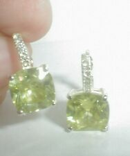 estate jewelry~see all no reserves! LARGE PERICOT GREEN DROP solitaire EARRINGS