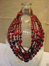 Chuncky Faceted and Smooth Amber Bead Necklace