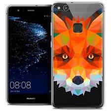 "Coque Housse Etui Pour Huawei P10 LITE (5.2"") Polygon Animal Souple Fin Renard"