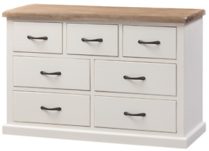 Painted Pine 3 over 4 chest of drawers