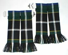 KILT HOSE SOCK FLASHES CORNISH HUNTING TARTAN WORSTED MADE IN SCOTLAND FOR KILTS