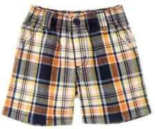 Gymboree FRIENDLY LION navy orange plaid shorts size 3-6 months NWT