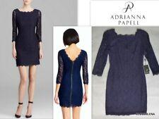 NWT ADRIANNA PAPELL Size 0P V-back w/zipper Lace Overlay Sheath Dress