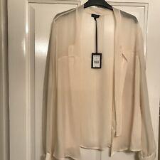 Jaeger black cream silk Blouse New Size 16