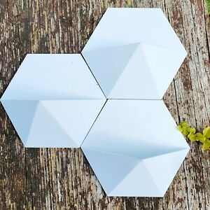 3pk **WHITE** Hanging Flower Pot Indoor/Outdoor Wall Decor For Succulents etc.