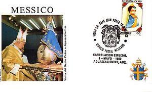 001- FDC VATICAN VISITE PAPE JEAN PAUL II  AU  MEXIQUE 1990