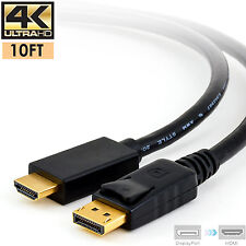 4K@30Hz DisplayPort Display Port PC DP to HDMI Male Cord Cable 10FT For PC HDTV