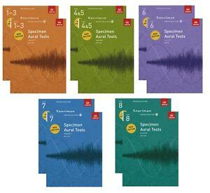 Specimen Aural Tests ABRSM 1-3,4-5,6,7,8 CD Option 2011 Editon