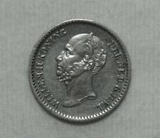 Silber/Silver Niederlande/Netherlands Willem II, 1849, 10 Cents VZ/XF