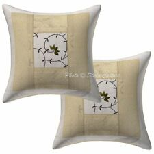 """Indian Brocade Pillow Case Cover Handmade Designer Embroidered Cushion Cover 16"""""""