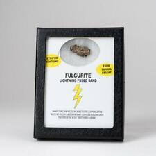Genuine Fulgurite Lighting Fused Sand in Display Box