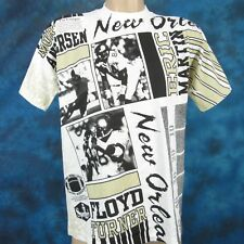 NOS vintage 90s NEW ORLEANS SAINTS ALL-OVER ART T-Shirt M football nfl louisiana