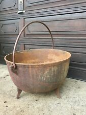 "Large Cast Iron Kettle Wash Pot Cauldron Cookware 24"" Diameter"