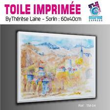 TOILE IMPRIMEE 60x40 cm - IMPRESSION SUR TOILE - TM-04- PAYSAGE MONTAGNE NATURE