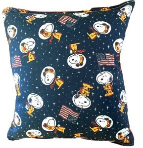 Snoopy Pillow Charlie Brown Space Snoopy Nasa Snoopy Pillow 2021 Design Handmade