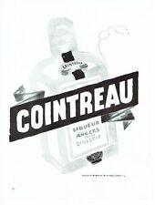 PUBLICITE ADVERTISING 126  1957  Cointreau liqueur  par A. Mercier