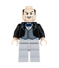 Lego Alfred Pennyworth 7783 The Butler - Bow Tie The Batcave Minifigure RARE