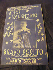 Spartito Adios Valentino Paso Doble Bravo Pepito José Primero