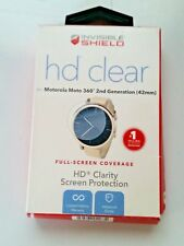 Zagg HD Clear Film Screen Protector for Motorola Moto 360 2nd Gen 42mm