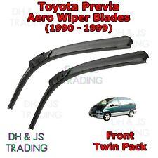 (90-99) Toyota Previa Aero Wiper Blades / Front Windscreen Flat Blade Wiper