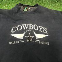 Vtg 1990s Dallas Cowboys Logo Athletic Sweatshirt Crewneck Blue Silver XL wow
