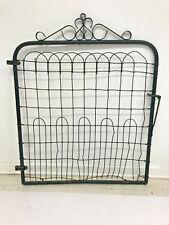 Vintage Garden Gate wire fence black shabby metal victorian door architectural