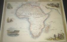 "AFRICA, John Tallis Map, 1850, hand colored, matted, 10,5x14,5"""