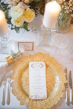 4 X ORO VETRO CARICATORE piatto per natale matrimoni e cena per feste 33CM