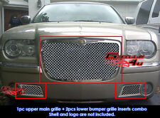 Fits Chrysler 300C Stainless Mesh Grill Combo 05-10