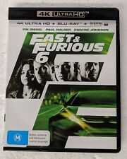 FAST AND FURIOUS 6 - 4K ULTRA HD + Blu-ray All Region oz seller &