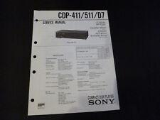 Original Service Manual Sony CDP-411/511/D/