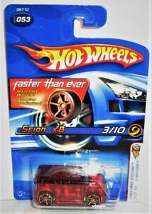 Hot Wheels 2005 Faster Than Ever Series Scion XB X-Raycer Red 3/10 New/Card