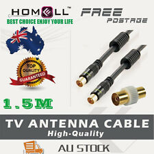 Y-CB38-1.5M Video Coaxial RG6 Antenna TV Cable Pal Male/Male Metal Plug+ Adaptor