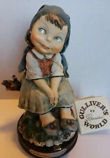 Guiseppe Armani Gulliver's world Vintage Girl Sitting Down Made in Italy