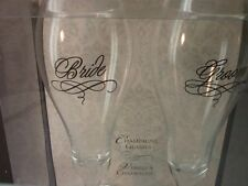 Lillian Rose Bride & Groom Champagne Toasting Glasses New In Box