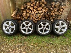 """SAAB 93 9-3 ALLOY WHEELS 17"""" WITH 225 45 17 EAGLE VECTOR WINTER TYRES 6MM"""