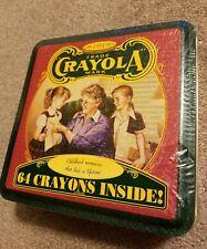 1994 Trade Crayola Mark Childhood Memories 64 Crayons inside Tin Box Sealed