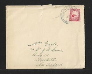 PITCAIRN TO NZ RMS RANGITANE 1d KIWI COVER 1937