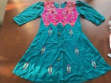 Girls tunic dress Indian cotton embroidered size 20