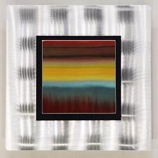 Modern Metal Abstract Hand-Painted Wall Art Accent Decor by Jon Allen OJ 448